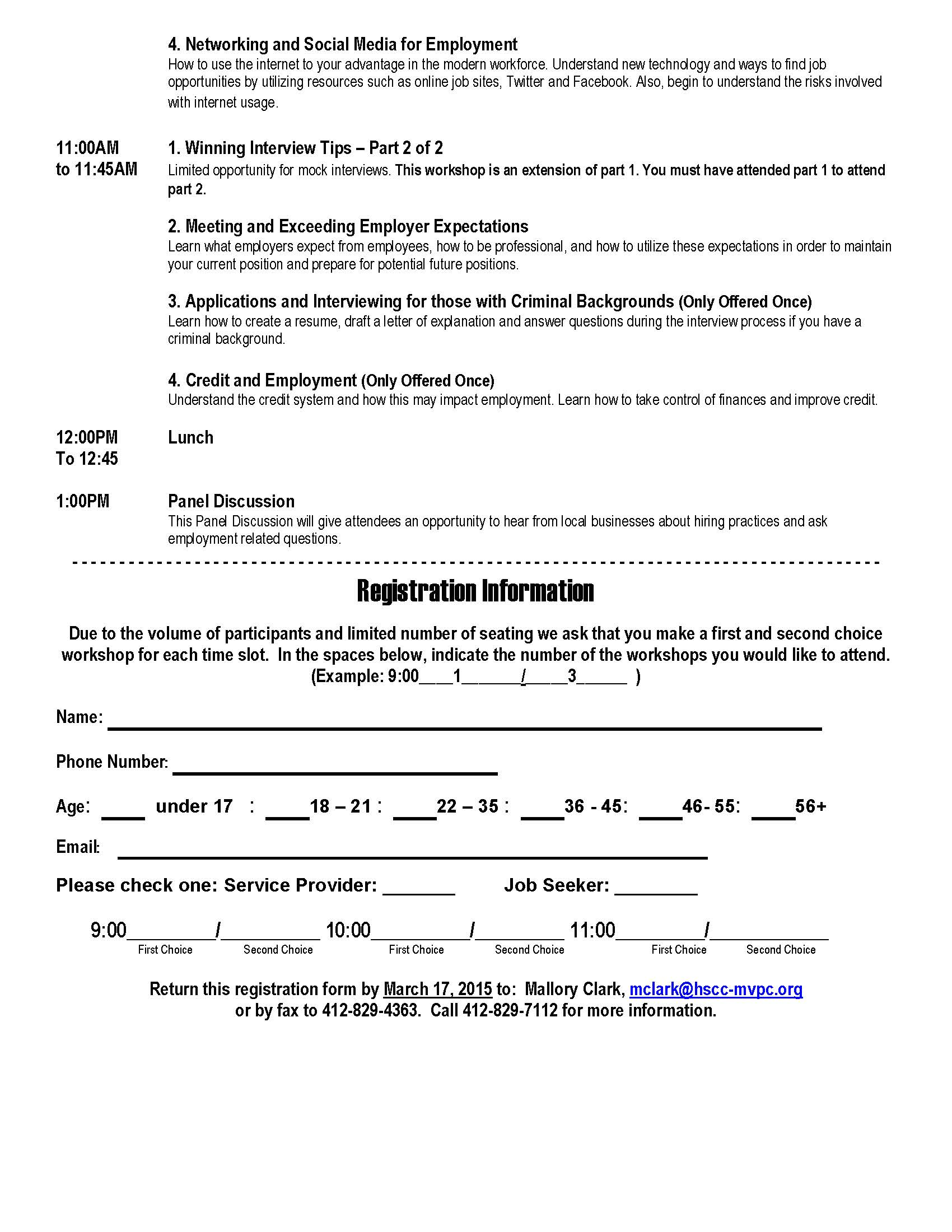 how to get a job and keep it how to get a job registration form 2015 page 2