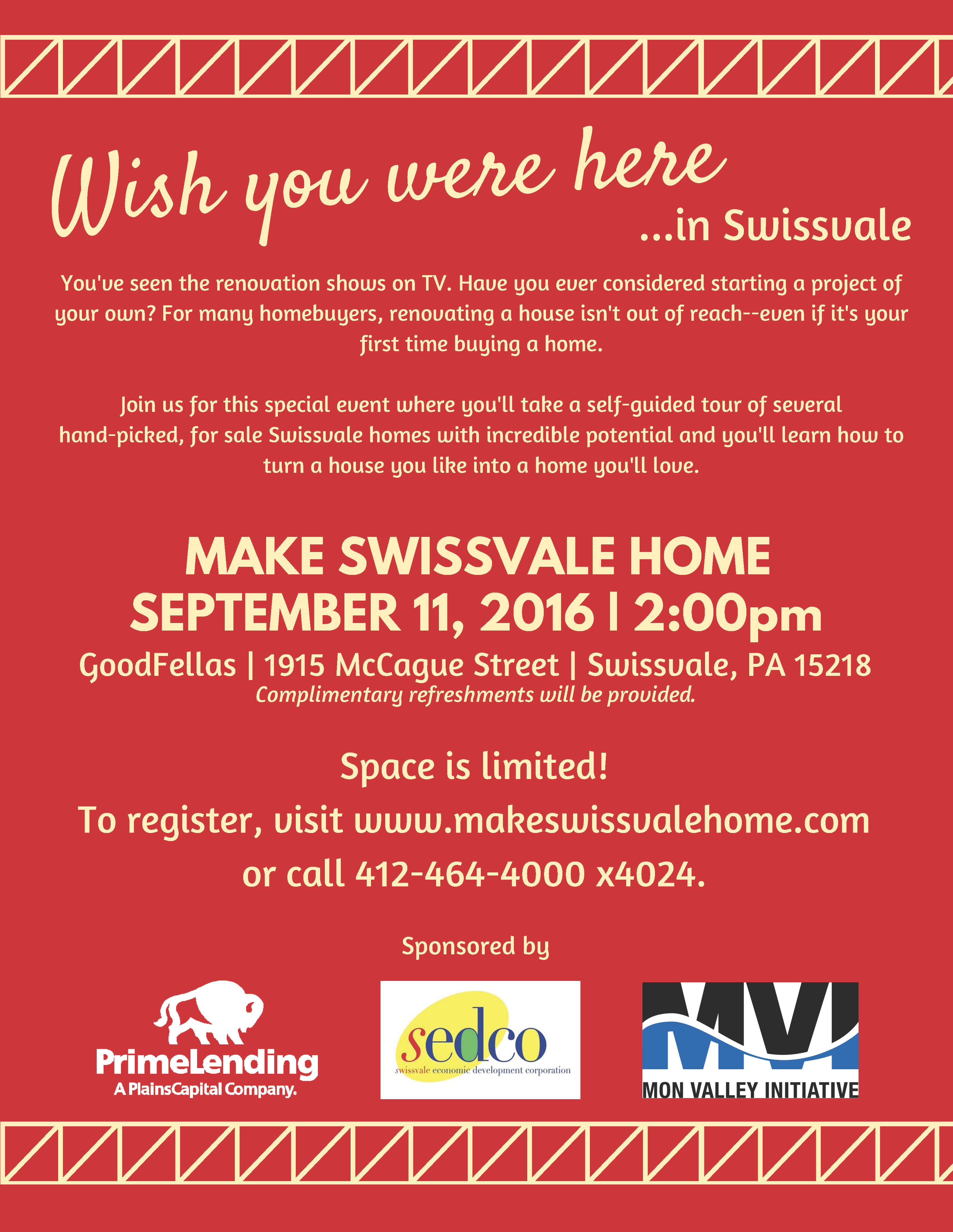 Make Swissvale Home Full Page Flyer