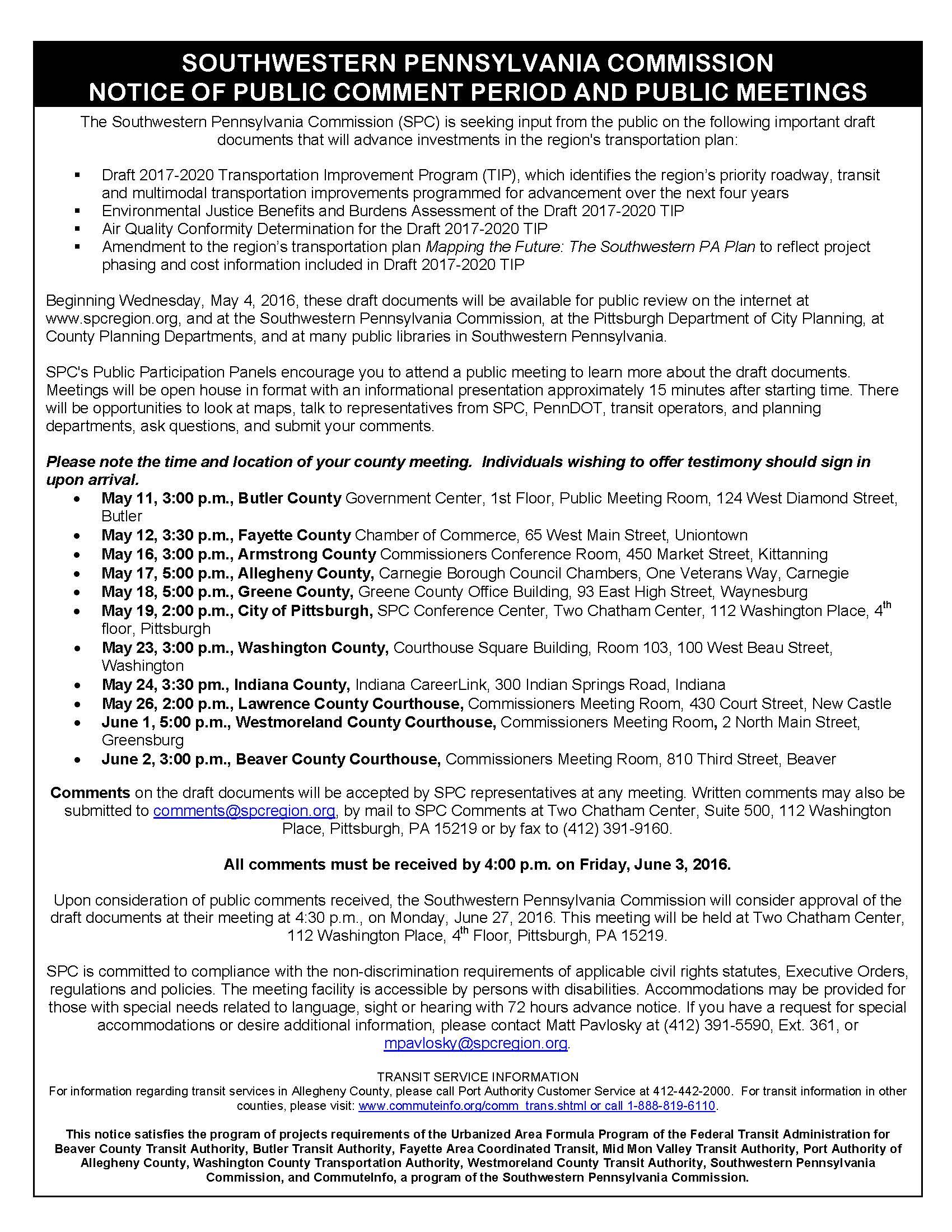 Southwestern Pennsylvania Commission Public Meeting-Allegheny County - 35b9df899